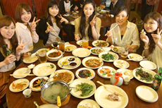 エイトならでは「中華で女子会」